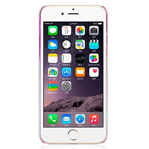 Mxnet Regentropfen Gradient Hard Case für iPhone 6 & 6S rutschsicher Telefon-Kasten ( Color : Magenta )