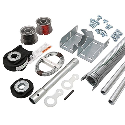 Set Torsion Conversion DIY Kit for 9 X 7 Ft Garage Doors 134 to 155 lbs