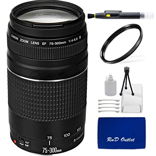 Canon Ef 75 300Mm F 4 5 6 Iii Telephoto Zoom Lens   Rnd Lens Accessory Kit For Canon 5D Mark Iii  5D Mark Ii  6D  70D  Sl1  60D  7D  T5i  T4i  T3i  T3  T2i  T1i  Xsi  Xs Digital Slr Camera