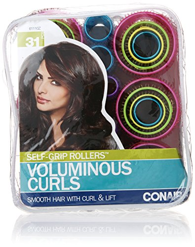 conair self-grip rollers - 510eiM8srNL - Conair Self-Grip Rollers, Assorted, 31 Count