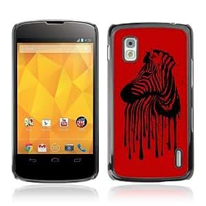 YOYOSHOP [Cool Zebra Stripes Illustration] LG Google Nexus 4 Case