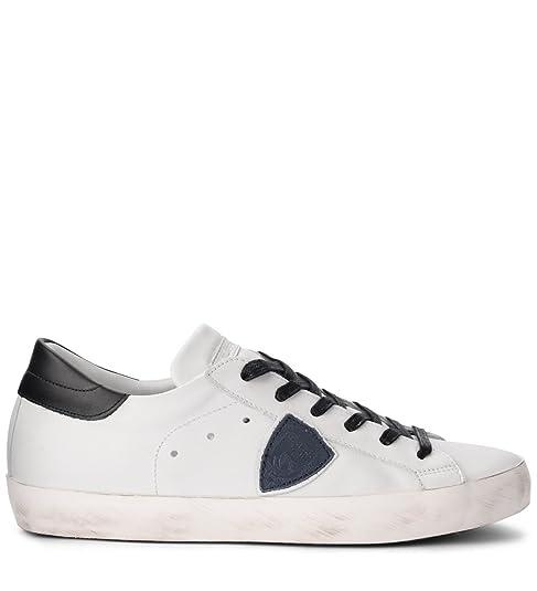 Philippe Model Sneaker Paris in Pelle Bianca Blu E Nera  Amazon.it  Scarpe  e borse 6602b386f22