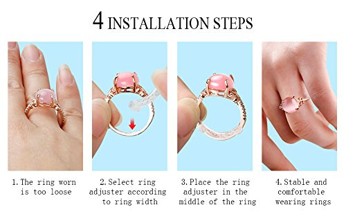 Ring Size Adjuster for Loose Rings 12 Pack 6 Sizes (2mm-10mm) - Jewelry Guard, Ring Sizer. Fit Women and Men