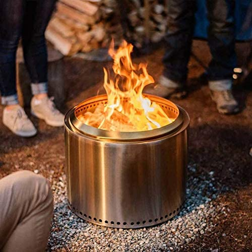 Solo Stove Bonfire Fire Pit - Large 19.5 Inch Stainless Steel Outdoor Smokeless Firepit