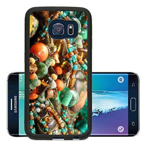 Liili Premium Samsung Galaxy S6 Edge Aluminum Backplate Bumper Snap Case IMAGE ID: 596199 Vintage Style Beaded Necklaces and Bracelet Close up Beaded Jelly Bracelet