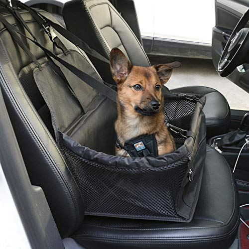 Waterproof Dog, Pet Car Auto Seat Booster,Portable Carrier, Protector Safety Basket, Travel Console, Foldable Crate, Cage, Bed, Guard with Clip-on Safety Leash, Belt for SEAT Cordoba