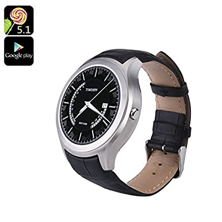 No.1 D5+ Android Smart Watch 1.3 Inch Display Heart Rate Pedometer ...