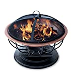 "Plow & Hearth Hammered Copper Fire Pit With Lid – Solid Copper Bowl and Metal Frame with Black Finish – 29½"" Dia. x 24″H Review"