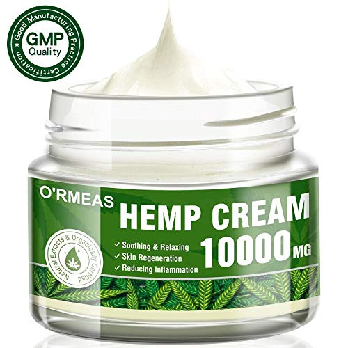 Hemp Cream for Pain Relief - Hemp Oil Extract & Hemp Cream Complex 10000 MG/ 4 oz- Emu Oil,Aloe Vera,Menthol,Rosemary oil ,Good for Muscle, Back, Knee Pain