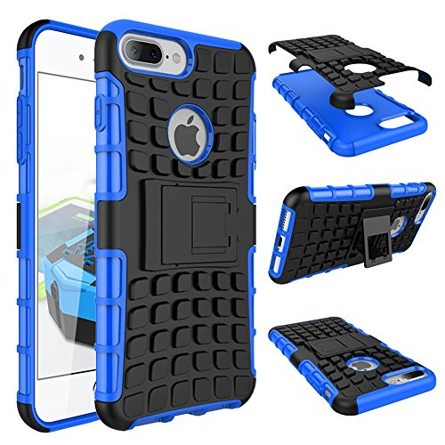 Suntechor Armor Case for Apple iPhone 7 Plus Heavy Duty Hybrid Protective Case Shockproof Hard Cover (Blue)