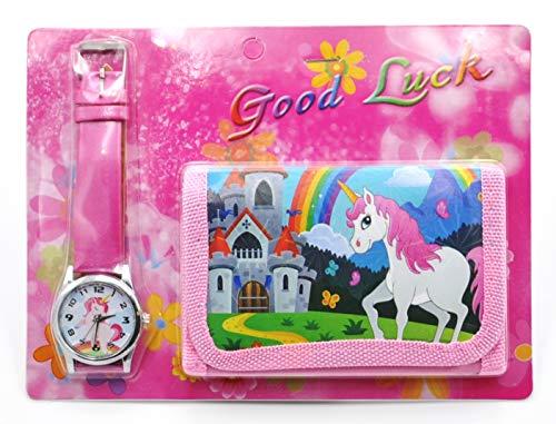 Unicorn Wallet and Watch Gift Set Purse Pocket Bag for girls, kids (Fuchsia3) from Unicorn
