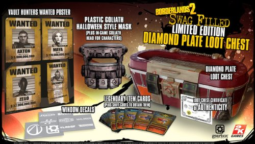 Borderlands 2 Swag Filled Diamond Plate Loot Chest Limited Edition (Borderlands Mask Psycho)