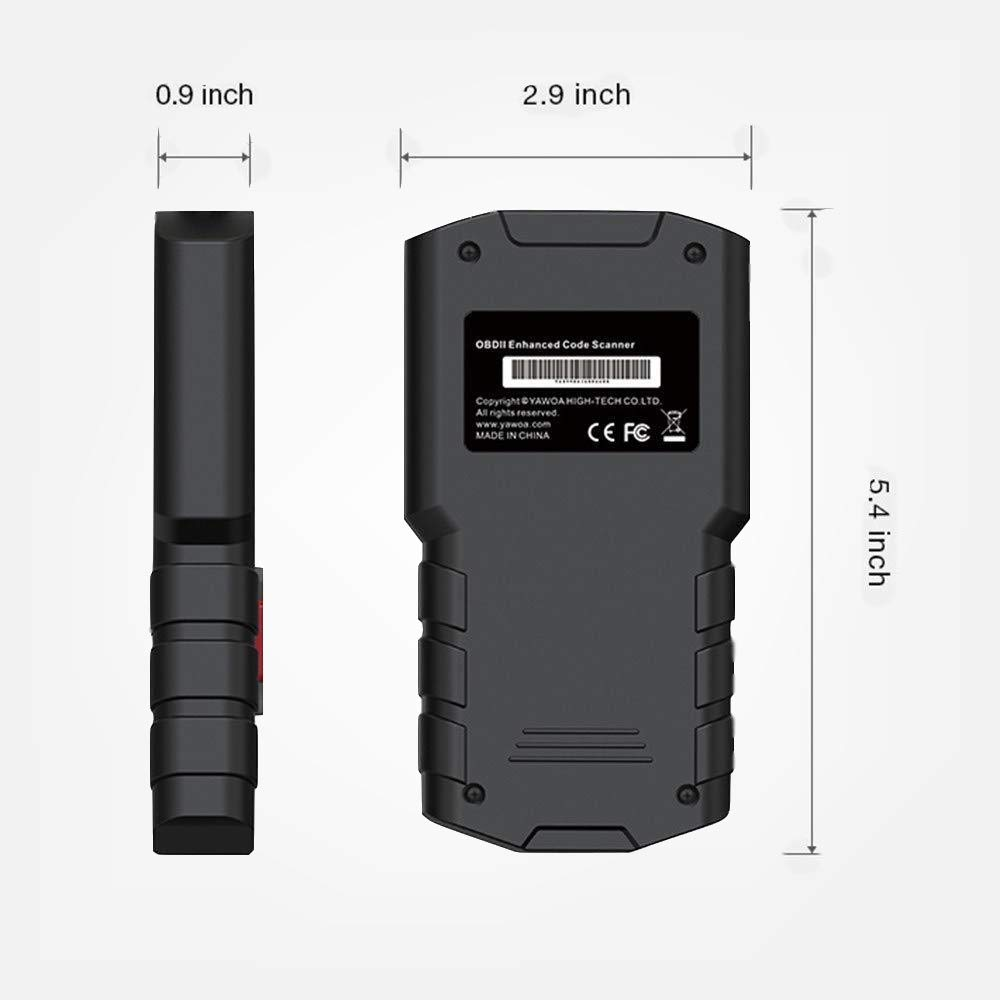 Justech CAN Diagnostic Scan Tool Engine Fault Code Reader DTC Lookup OBD2 Scanner Automotive Engine Fault Code Reader