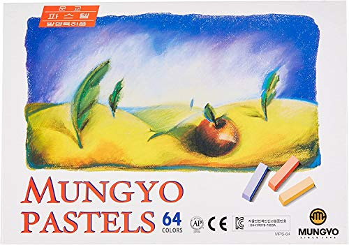 Mungyo Soft Pastel 64 Color Set Square Chalk (US Korean Version)