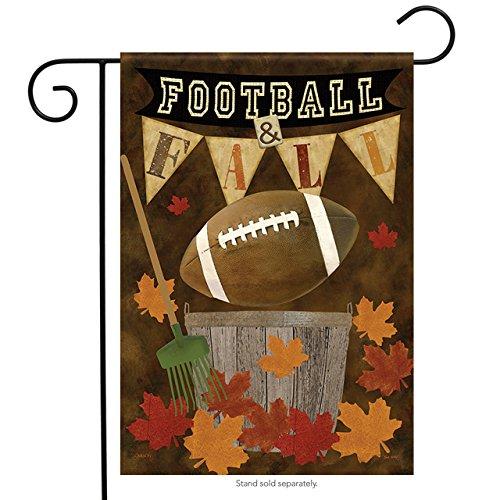 Football Fall Garden Flag Autumn Leaves Decorative Sports 12