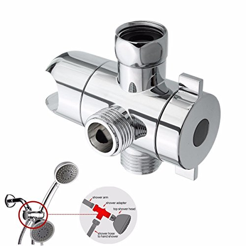 Handheld Shower 1/2' Valves - Diverter Chrome 1/2'' 3 Way T-adapter Water Valve For Toilet Bidet Shower Head Mount Diverter Angle Valve Accessories Faucet Kit for Universal showering components