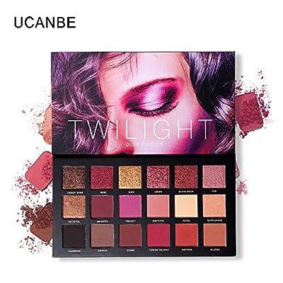 UCANBE 18 Color Eyeshadow Palette + 6pcs Multifunction Makeup Brushes Set Kit, Highly Pigmented Matte Shimmer Blending Eye Shadow Powder Pallet