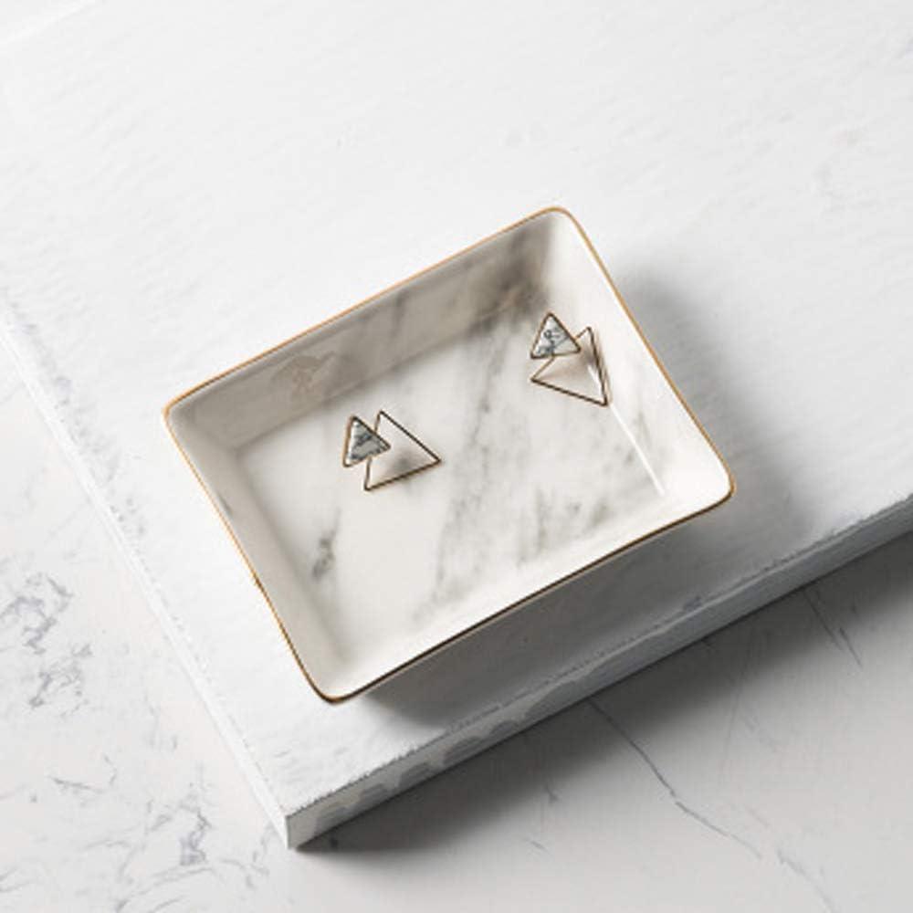 Marbre c/éramique Plateau /à bijoux Anneau porte anneau Ring Organizer avec Cadeau de pendaison de cr/émaill/ère Ami