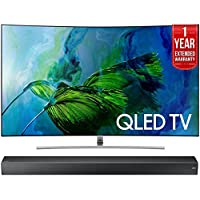 Samsung QN55Q8C Curved 55-Inch 4K Ultra HD Smart QLED TV (2017 Model)+ HW-MS750 Sound+ Premium Soundbar + 1 Year Extended Warranty