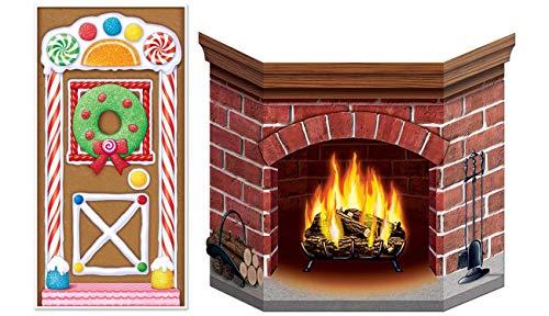 Beistle 20017 Gingerbread House Door Cover, 30