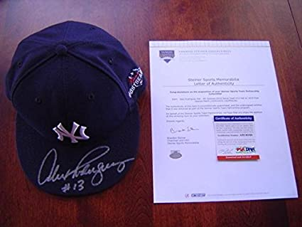 Image Unavailable. Image not available for. Color  New York Yankees Alex  Rodriguez Game Used Signed 2015 Postseason Hat ... 12d9b0adfe8
