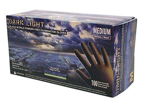 [해외]Adenna Dark Light 9 mil 니트릴 파우더 무료 시험 장갑/Adenna Dark Light 9 mil Nitrile Powder Free Exam Gloves