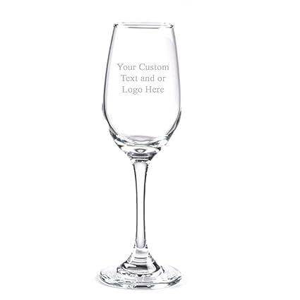 313f7661eeb Amazon.com | ANY TEXT, Custom Customized Engraved Flute Champagne Glass  Glasses, 6.25 oz Stem - Personalized Laser Engraved Text Customizable Gift:  Beer ...