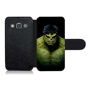 Funda carcasa de cuero para Samsung Galaxy A3 diseño Hulk superhéroe