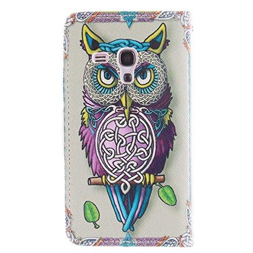 Funda Iphone, Búho patrón horizontal Flip caja de cuero con titular y ranuras para tarjetas y cartera para Samsung Galaxy S III mini / i8190 ( SKU : S-SCS-7362E ) S-SCS-7362A