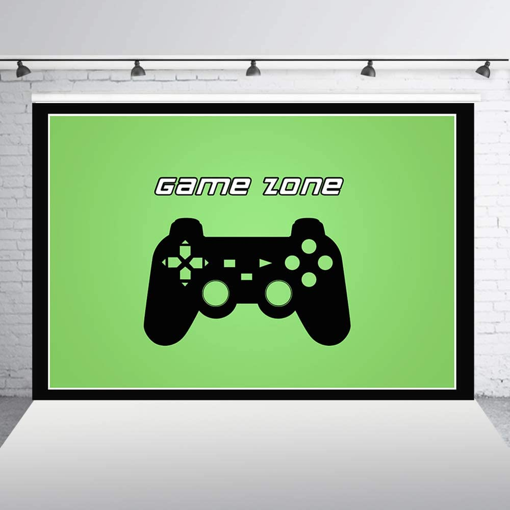 Haoyiyi 10x6.5ft Game On Video Backdrop Gaming Next Level Up Game Over Retro Background Photography Photo Boy Kids Happy Birthday 1st First Baby Shower Cake Smash Table Decoration Favors Pictures