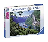 Ravensburger Norwegian Fjord - 1000 Piece Jigsaw Puzzle for Adults – Every Piece is Unique, Softclick Technology Means Pieces Fit Together Perfectly