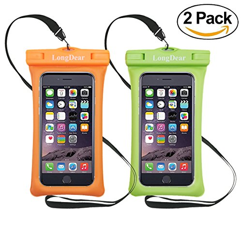 LongDear Universal Floating Waterproof Case,Cell Phone Pouch Dry Bag for iPhone X/8/8plus/7/7plus/6s/6/6s plus Samsung Galaxy s8/s7 LG V20 Google Pixel up to 6.3inch ()