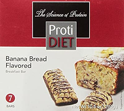 ProtiDiet Protein Bar - Banana Bread (7/Box)