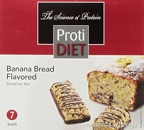 ProtiDIET Delicious Protein Bar | Nutritious Low Fat & Carb Snack With High Vitamins & Minerals | | Healthy & Energizing Small Meal | Assists In Weight Loss (Banana Bread) - Low Fat Meals