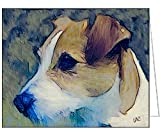 Parson Jack Russell Terrier - Fine Art Note Cards & Envelopes - Set of 6