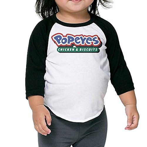 MDSHOP Popeyes Louisiana Kitchen And Biscuits 2-6 Kids Baby / Toddler Cotton T-Shirts (Baby Popeye)