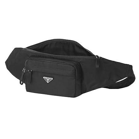 4985526a1a36 Amazon.com | Prada Unisex Marsupio Belt Waist Bag Black Nylon Tessuto Fanny  Pack 2VL005 | Waist Packs