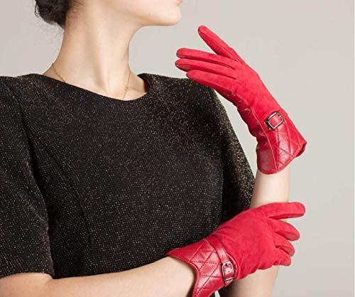 Ragazza 6 Hx Guanti Colori Donna Invernali In Chic Fashion Da Corti Camoscio Rosso A Lunghi w1vRFOqwp