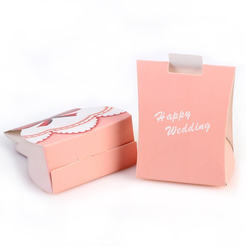 Ketobk 50Pcs 25Pairs Pink Bride Groom Tuxedo Dress Gown Wedding ...
