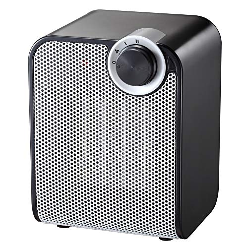 - andily Portable Ceramic Space Heater for Home and Office Indoor Use with Adjustable Thermostat Overheat Protection and Carrying Handle ETL Listed, 750W/1500W