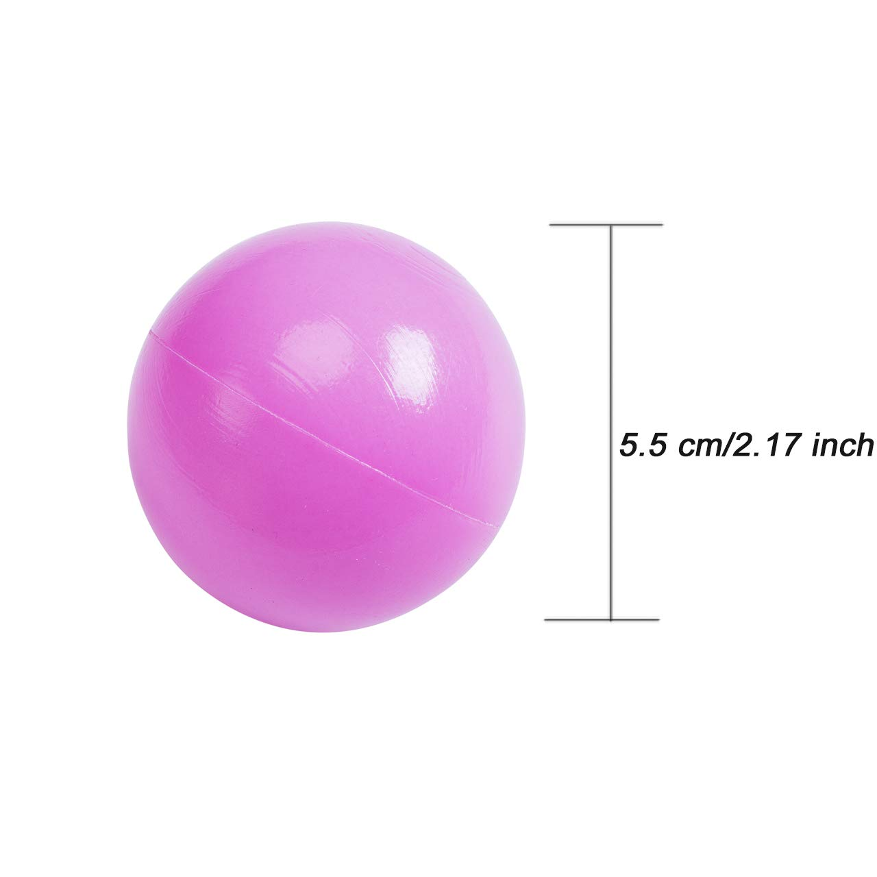 Binwwede Kids Ocean Ball 5 Colors Toddler Baby Ball Pit Pack of 100 Plastic Play Balls (20pcs) by Binwwede (Image #7)