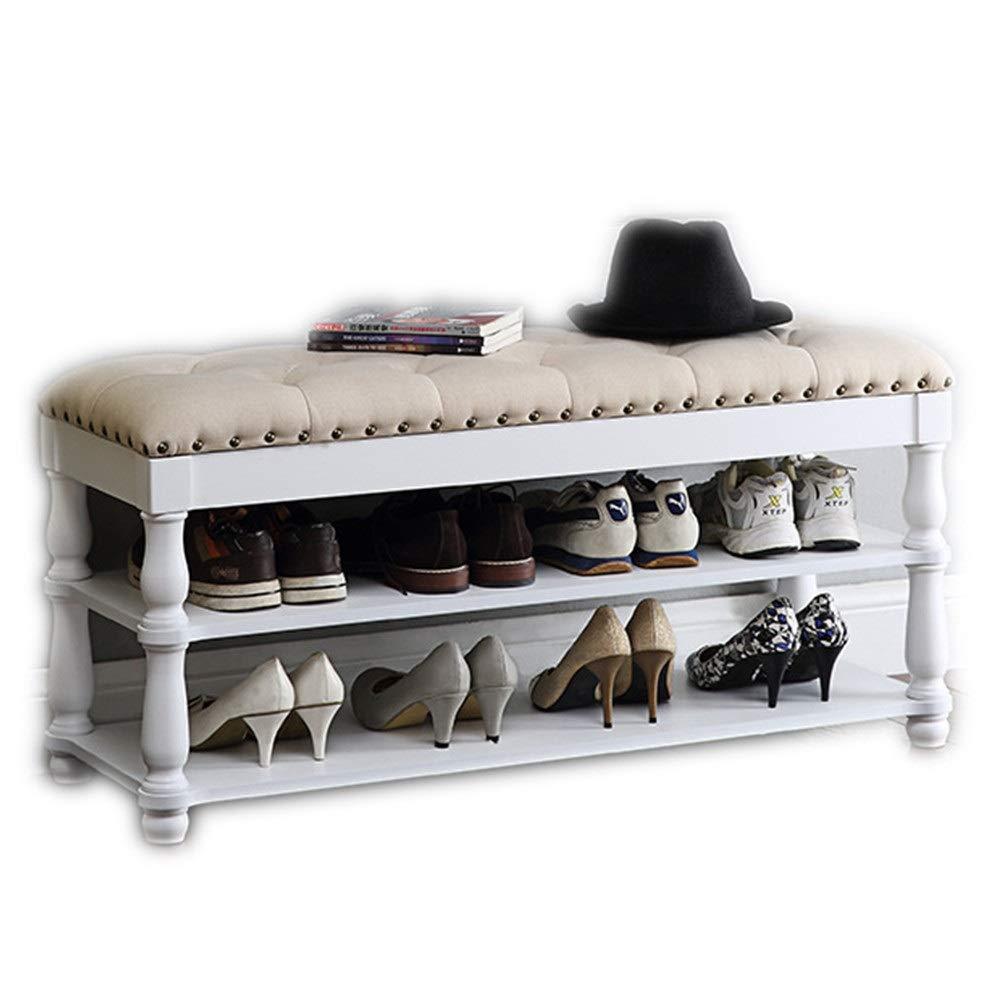 シューズラック靴棚 シェルフ 収納 ラック クリエイティブ靴ラックベンチオーガナイザー手作り廊下家具靴収納スタンド 玄関収納可動棚 (色 : 白, サイズ : 100*35*57cm) B07SY6T6KP 白 100*35*57cm