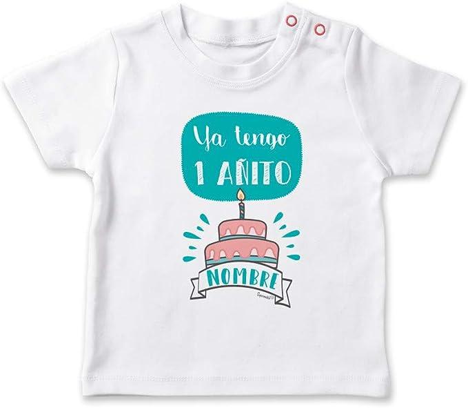SUPERMOLON Camiseta bebé Ya tengo un añito Blanco 0-1 años: Amazon.es: Bebé