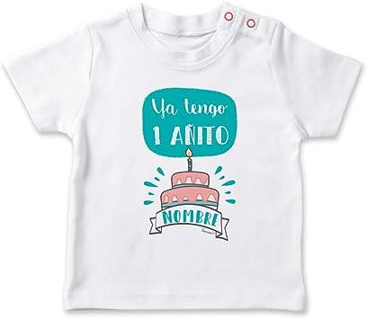 SUPERMOLON Camiseta bebé Ya tengo un añito Blanco 0-1 años: Amazon ...