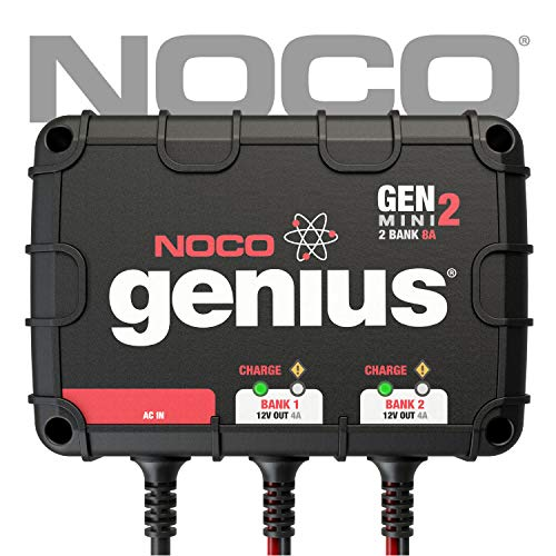 2nd Generation Car Charger - NOCO Genius GENM2 8 Amp 2-Bank On-Board Battery Charger