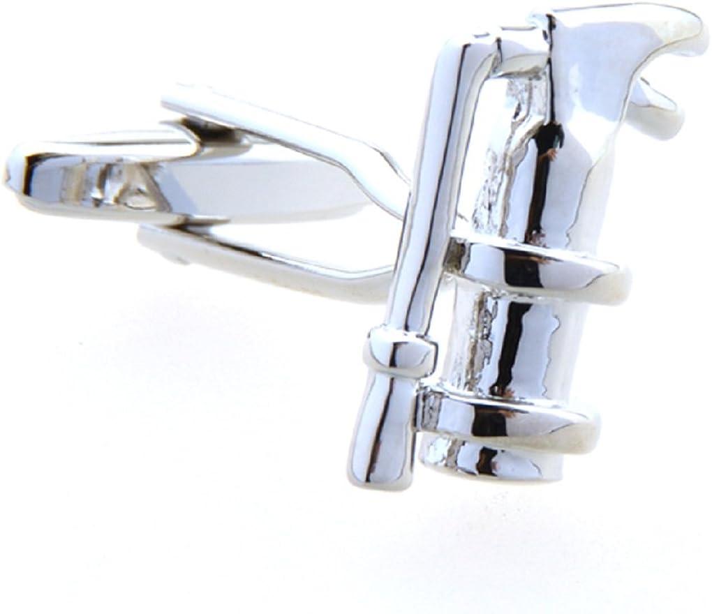 MRCUFF Fire Extinguisher Fireman Pair Cufflinks in a Presentation Gift Box & Polishing Cloth