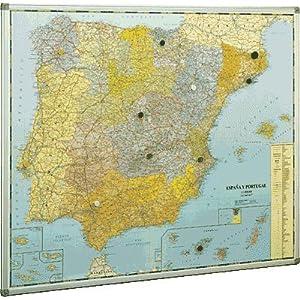 Mapa de España y Portugal magnético 103X129 cm