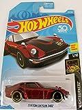 datsun diecast - Hot Wheels 2018 50th Anniversary Nightburnerz Custom Datsun 240Z 140/365, Maroon