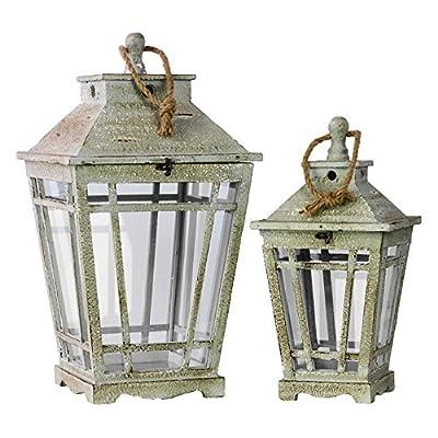 Benzara Wooden Lanterns - Set of 2