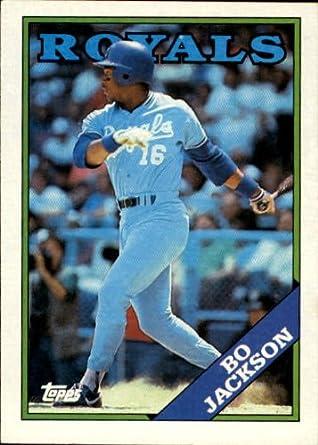 Amazoncom 1988 Topps Baseball Card 750 Bo Jackson Mint